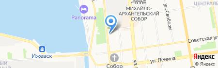 Сытый купец на карте Ижевска
