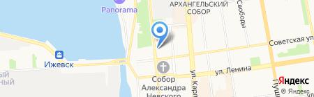 Чайная Максима Горького на карте Ижевска