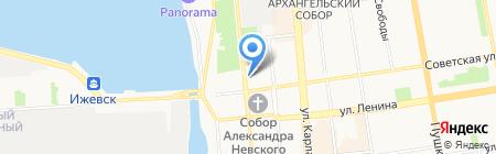 Ульянушка на карте Ижевска