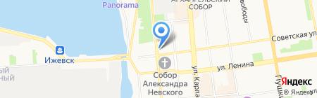 Скайлайн на карте Ижевска