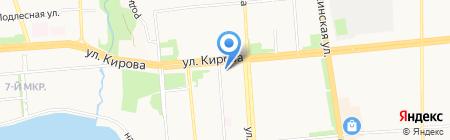 Анна Потапова на карте Ижевска