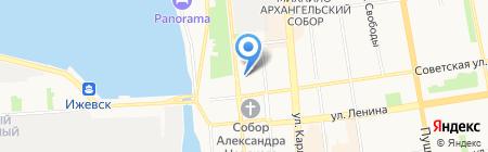 Автобаза Министерства культуры печати и информации Удмуртской Республики на карте Ижевска