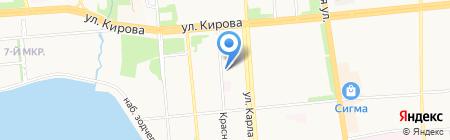Детский сад №173 на карте Ижевска