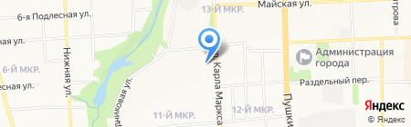 Двери на карте Ижевска