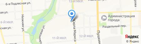 Гарди на карте Ижевска