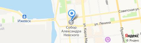Александро-Невский кафедральный собор на карте Ижевска