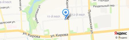 ДС на карте Ижевска