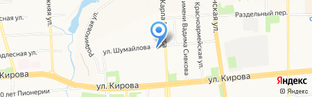 Час Пик на карте Ижевска