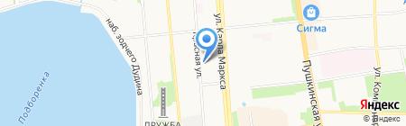 Боец на карте Ижевска