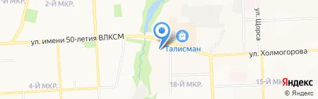 Вега на карте Ижевска