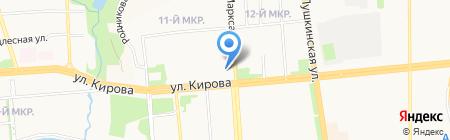 Киоск по продаже продуктов питания на карте Ижевска