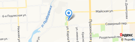 Северная на карте Ижевска