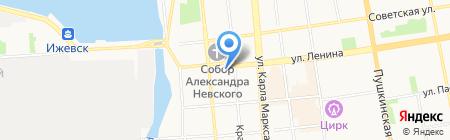 СОЛ на карте Ижевска