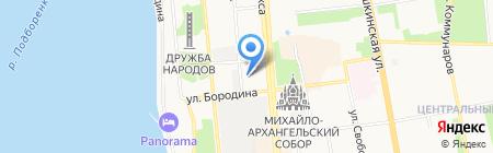 Камские дали на карте Ижевска