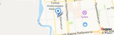Акцент на карте Ижевска