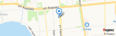 Денария на карте Ижевска