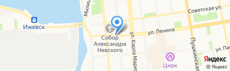 Ткани на карте Ижевска