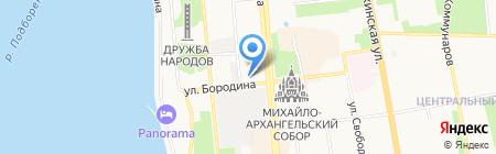 Городская поликлиника №1 на карте Ижевска