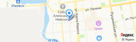 Дом учителя на карте Ижевска