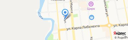 Шиномонтажная мастерская на ул. Красная 87 на карте Ижевска