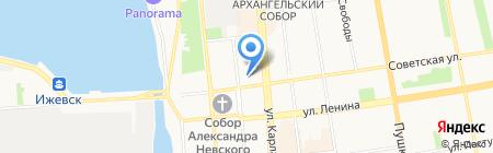 Веб-капитал на карте Ижевска