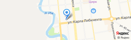 Остров сокровищ на карте Ижевска