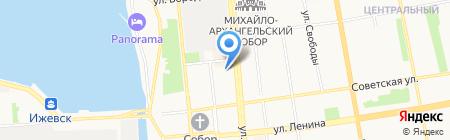 Федерация пейнтбола на карте Ижевска