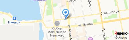 Евросеть на карте Ижевска