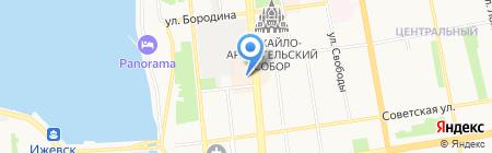 Парикмахер-Сервис на карте Ижевска