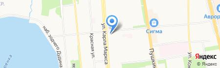 Ивановский трикотаж на карте Ижевска