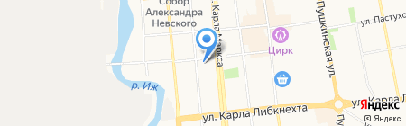 ДЭНАС Ижевск на карте Ижевска