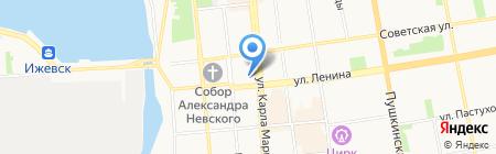 Центр дошкольного образования и воспитания Ленинского района на карте Ижевска