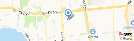 Отдел полиции №2 Октябрьского района Управления МВД России по г. Ижевску на карте Ижевска