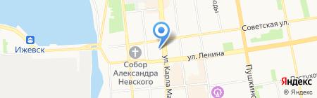 Золотая рыбка на карте Ижевска