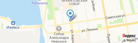 Банкомат БАНК ФК Открытие на карте Ижевска