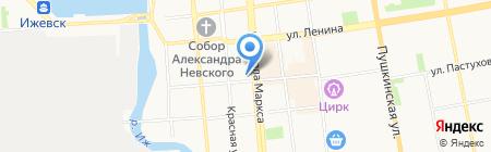 Детская школа искусств №2 на карте Ижевска