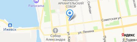 Городской ломбард на карте Ижевска