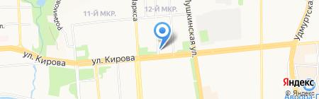 Радиосистемы на карте Ижевска