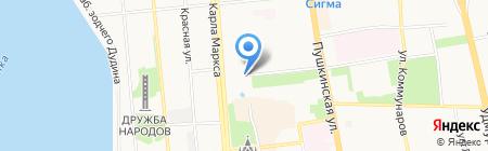 Синатра на карте Ижевска