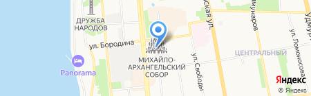 Свято-Михайловский собор на карте Ижевска