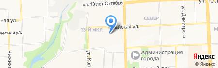 Средняя общеобразовательная школа №88 на карте Ижевска