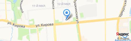 Удмуртский республиканский музей изобразительных искусств на карте Ижевска
