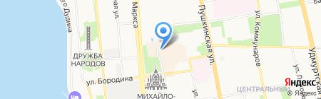 Птица Счастья на карте Ижевска