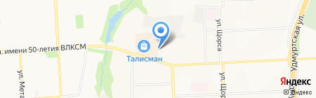 АЗС Башнефть на карте Ижевска