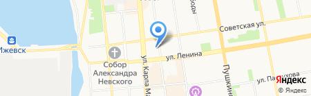 День на карте Ижевска