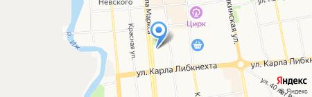 Лингвистический лицей №25 на карте Ижевска
