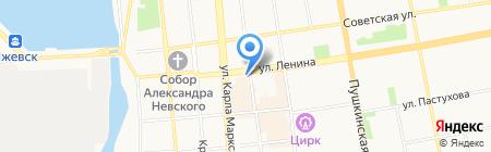 АКБ Югра на карте Ижевска