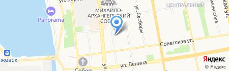 Стройснаб на карте Ижевска