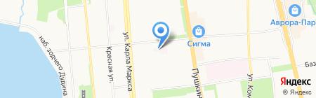 Детская городская клиническая больница №7 на карте Ижевска
