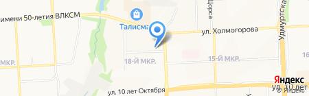 Центр ногтевого сервиса и образования В. Ажгихиной на карте Ижевска